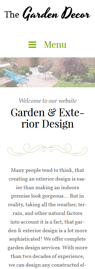 Template #62020 Garden Decot WordPress Themes - Smartphone Layout 2