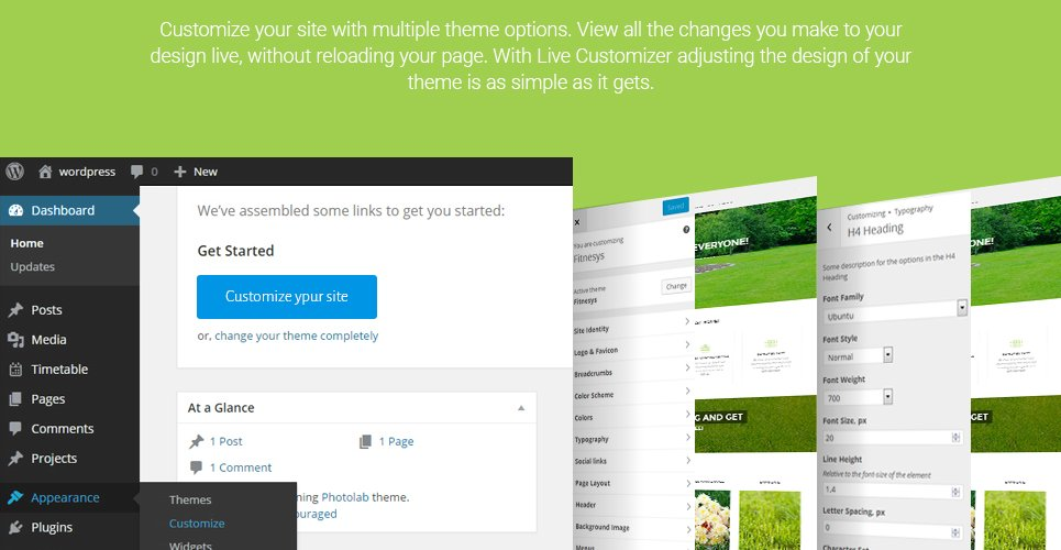 take care of your site by means of lawn mowing wordpress theme change the appearance of your site by means of live customizer you can see the edits