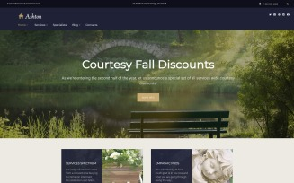 Ashton - Funeral & Cemetery Services WordPress Theme