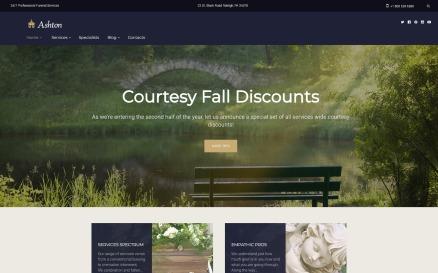 Ashton - Funeral & Cemetery Services WordPress Theme