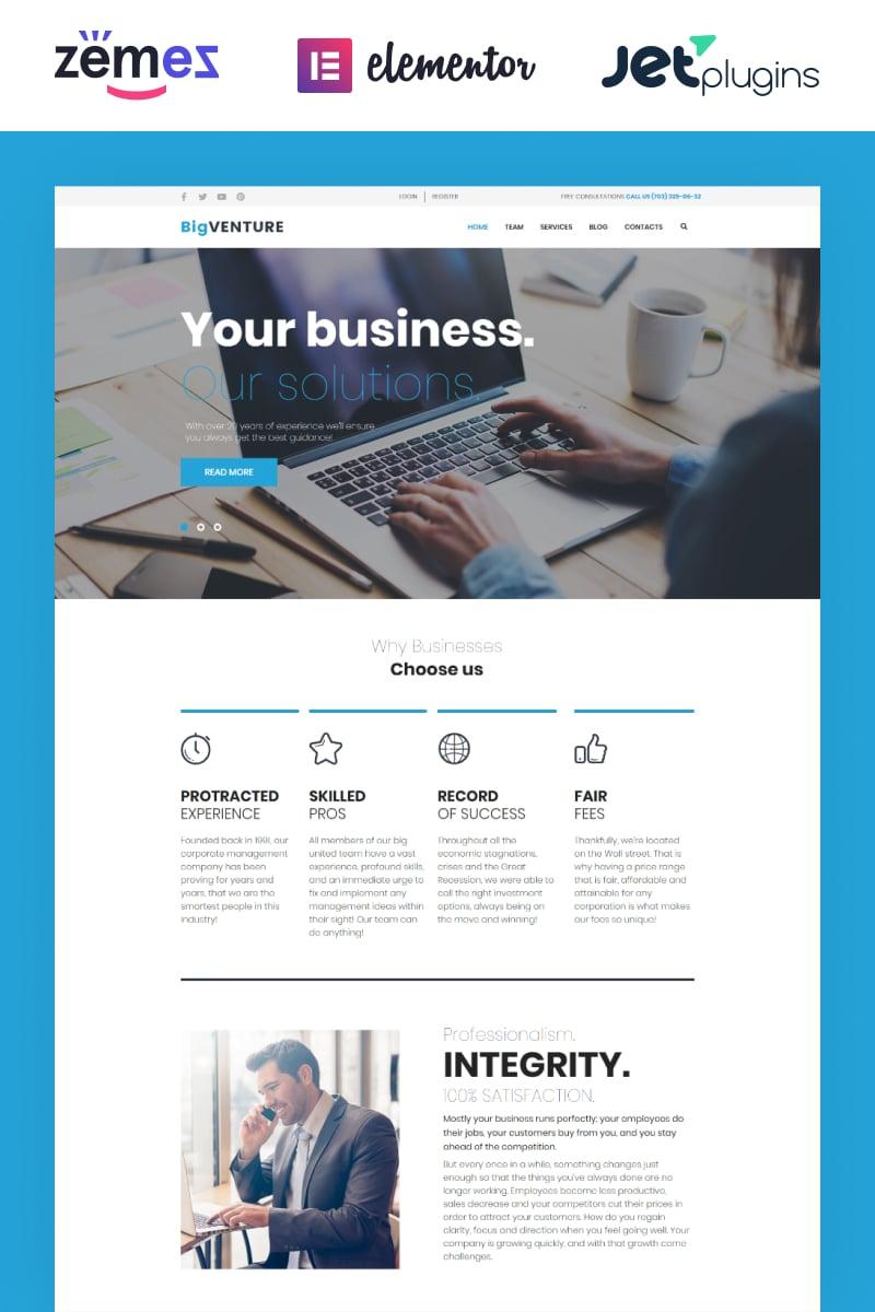 BigVenture - Business & Consulting Elementor WordPress Theme