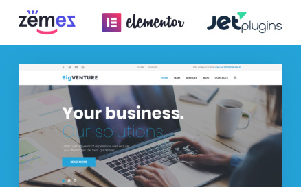BigVenture - Business & Consulting Elementor WordPress Theme