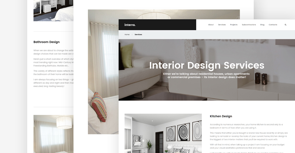 Interra the best interior design wordpress theme for Interior design wordpress theme