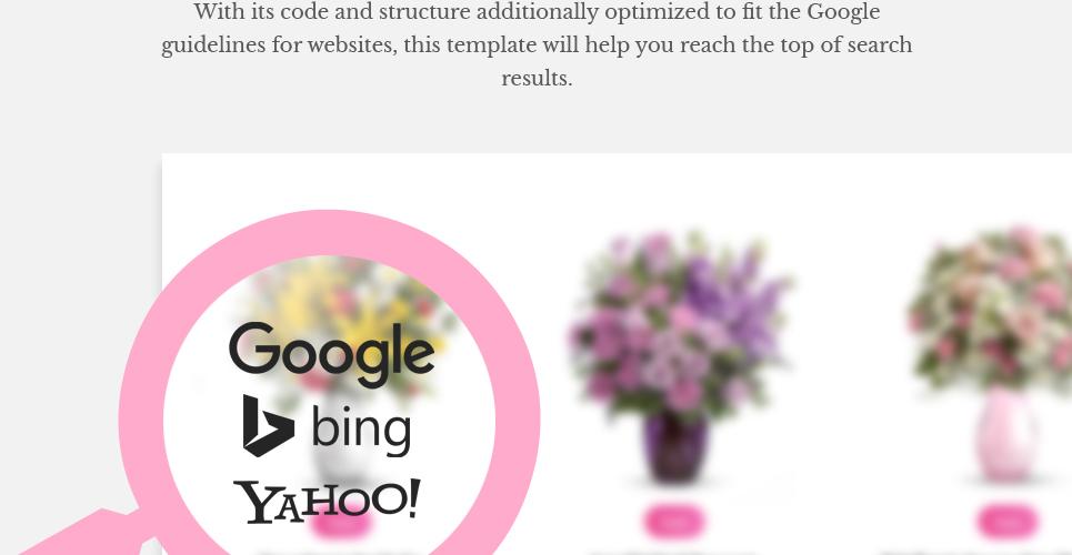 Tema WooCommerce #62046 para Sitio de Tienda de Flores