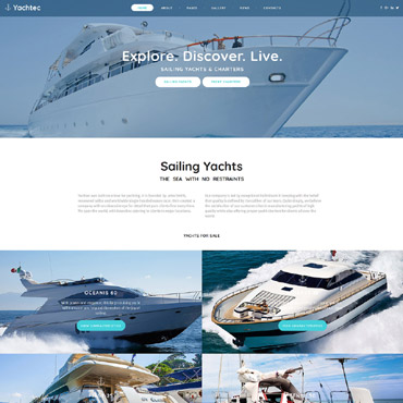 Preview image of YachTec - Sailing Yachts & Charters Responsive