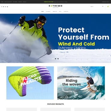Preview image of Sport VirtueMart Template No. 62074