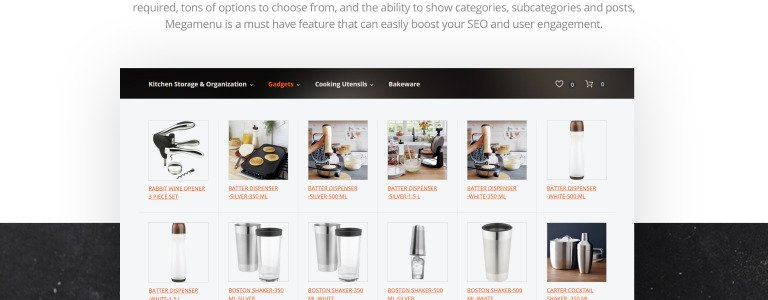 metaine is an elegant and clean kitchen supplies magento theme designed for kitchen appliances cooking utensils bakeware sets and more