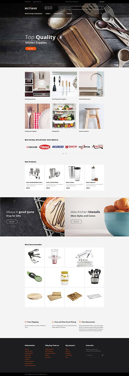 Magento Main Page  preview