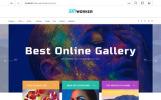 Адаптивний PrestaShop шаблон на тему мистецька галерея