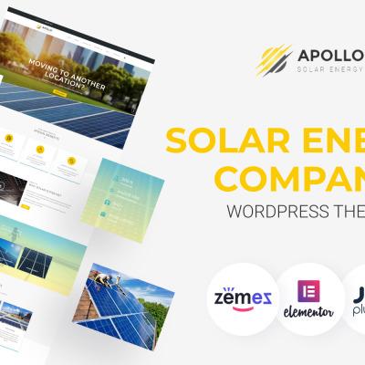 Apollo - Solar Energy Company Responsive WordPress Theme #62044