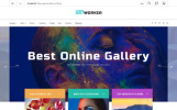 """Artworker - Galerie et portfolio d'artiste en ligne"" thème PrestaShop adaptatif"