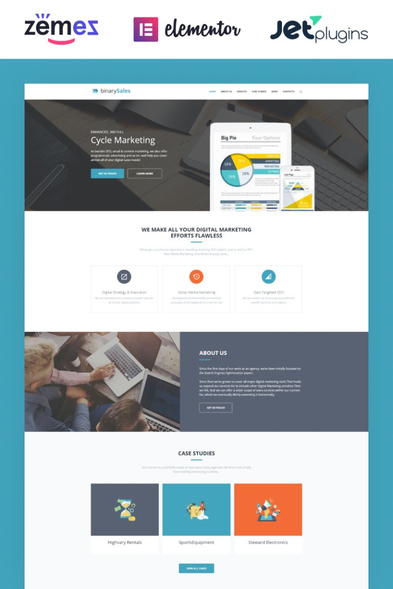 BinarySales - SEO & Digital Marketing WordPress Theme New Screenshots BIG