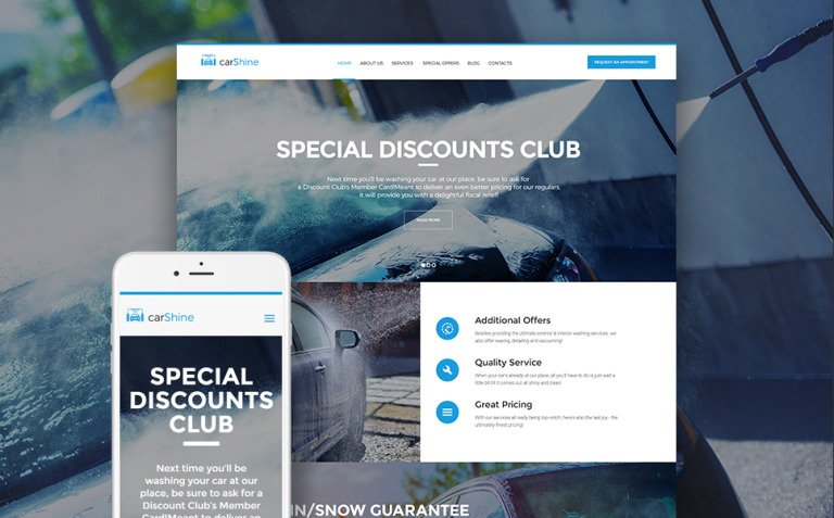 CarShine - Car Wash WordPress Theme New Screenshots BIG