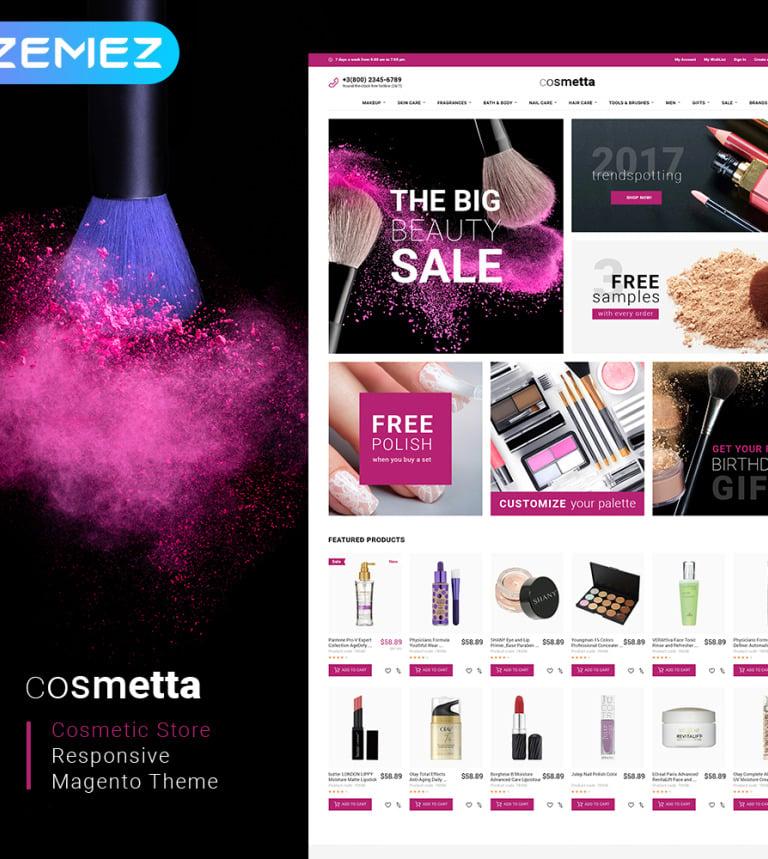 Cosmetta - Beauty Supply Store Magento 2 Theme