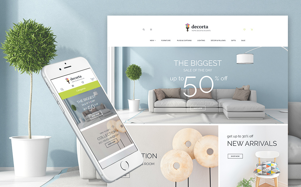 Home decor magento 2 theme for Ta home decor