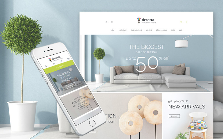Decorta - Home Deco Responsive Magento 2 Theme New Screenshots BIG