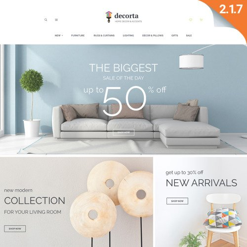 Decorta - Magento 2 Template based on Bootstrap