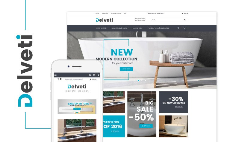Delveti - Plumbing Supplies Magento Theme New Screenshots BIG