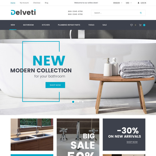 Delveti  - Magento Template based on Bootstrap