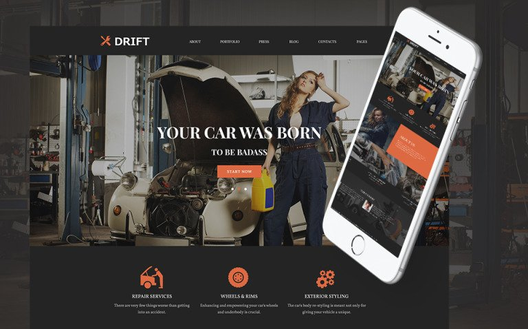 Drift - Car Service WordPress Theme New Screenshots BIG