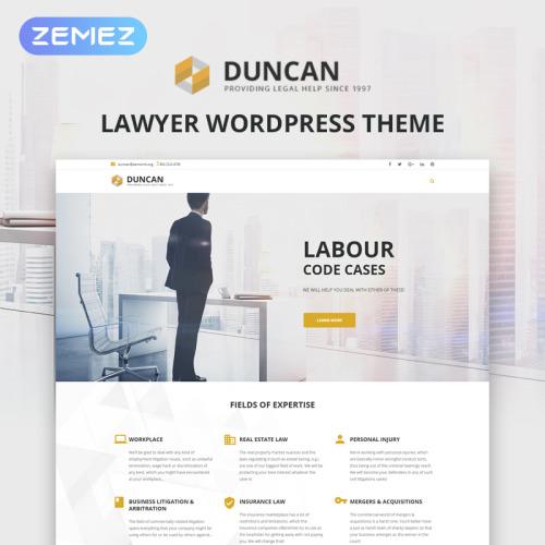 Duncan  - Responsive WordPress Template