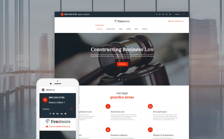 Fenimore - Attorney & Law Services Joomla Template New Screenshots BIG