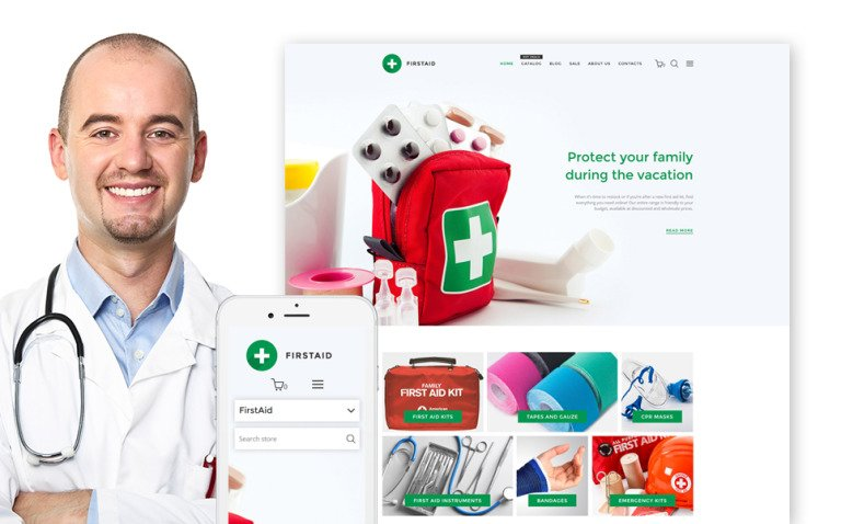 FirstAid - Medical & Healthcare Shopify Theme New Screenshots BIG