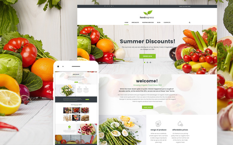 Food Express - Agriculture & Farm WordPress Theme New Screenshots BIG