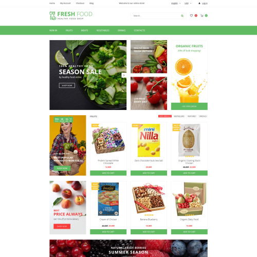 Fresh Food  - OpenCart Template based on Bootstrap