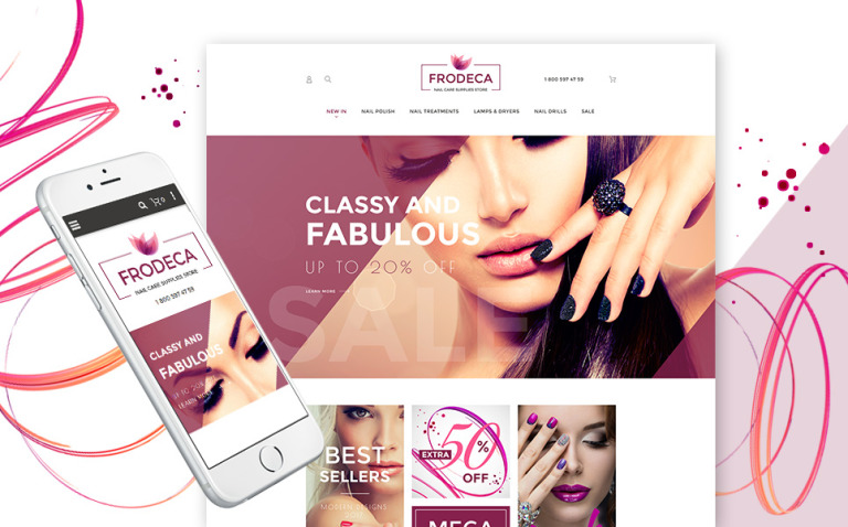 Frodeca - Manicure & Nail Supplies Responsive Magento 2 Theme New Screenshots BIG