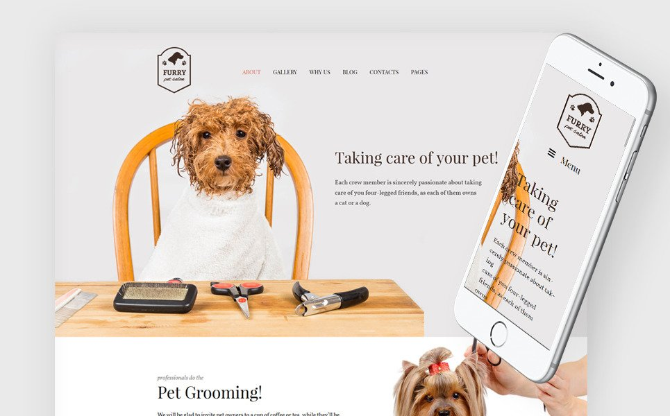 Furry - Pet Grooming WordPress Theme New Screenshots BIG
