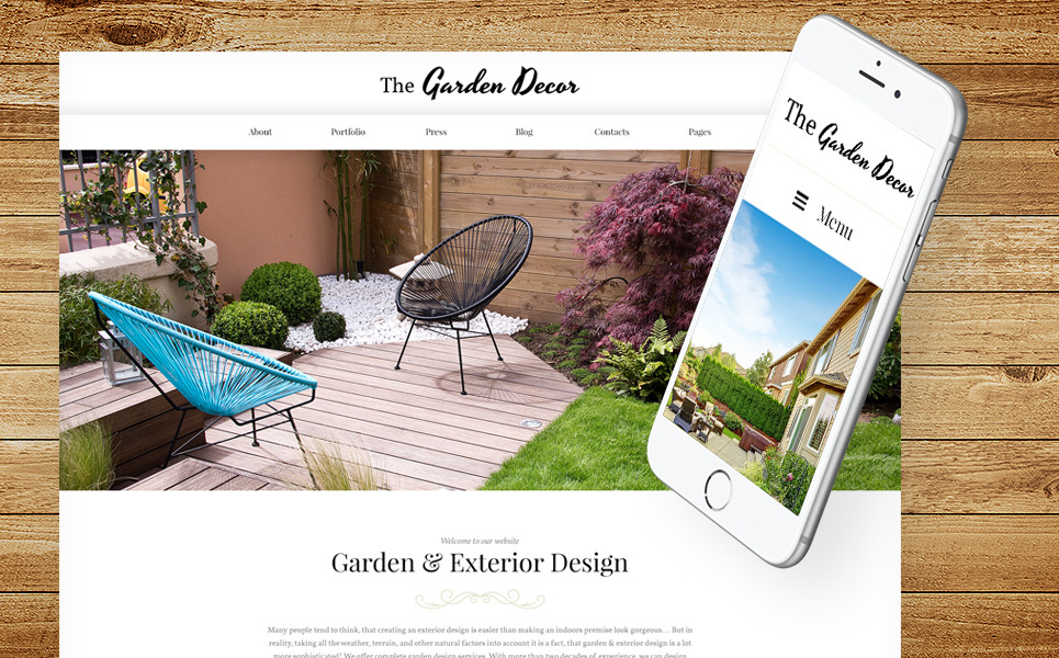 Garden Decor And Exterior Design Responsive WordPress Theme New Screenshots BIG