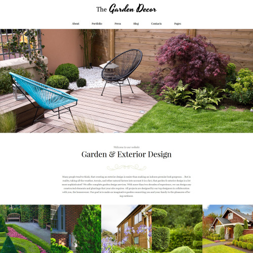 Thegarden Decor  - Responsive WordPress Template