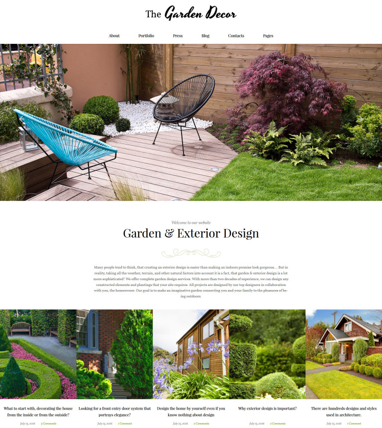 Garden Design WordPress Template Fascinating Landscape Garden Design Decor