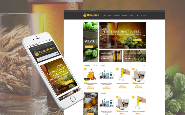 HomeBrew - Brewery Responsive OpenCart Template New Screenshots BIG