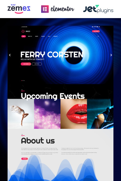Inigo - Night Club Responsive WordPress Theme