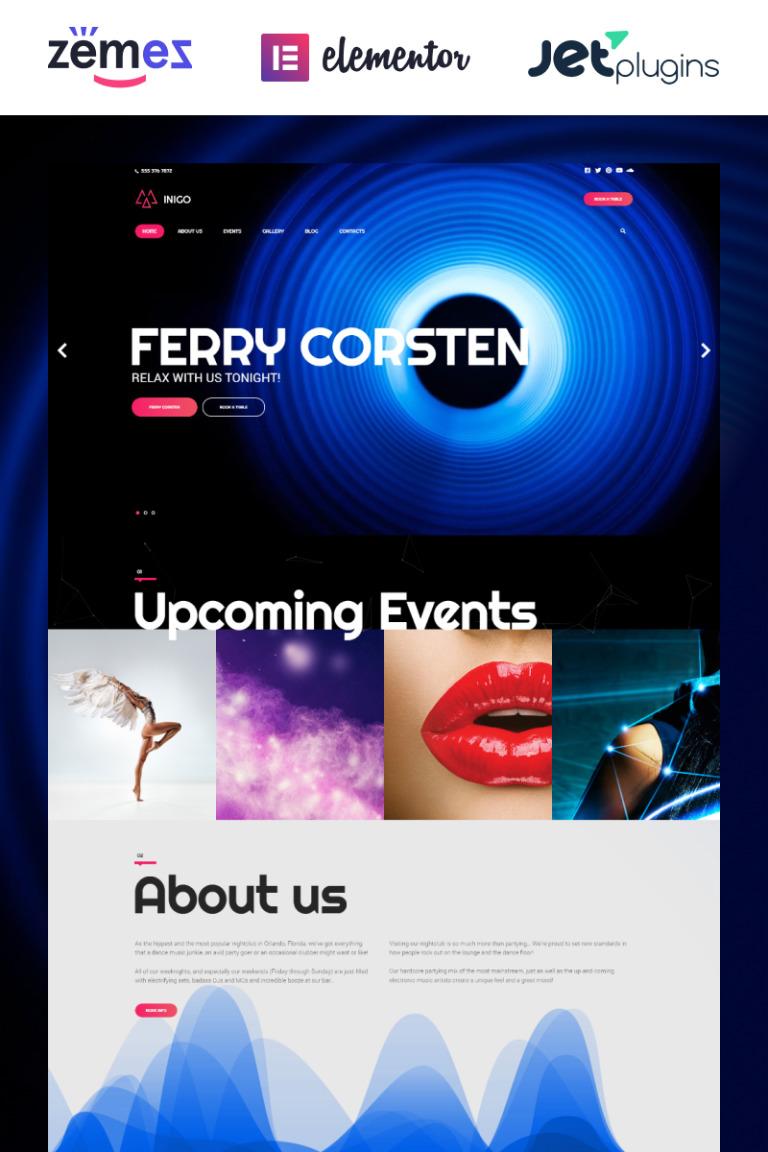 Inigo - Night Club Responsive WordPress Theme New Screenshots BIG