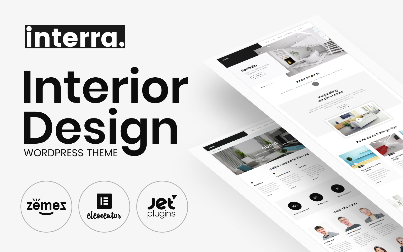 Interra - Interior Designer Portfolio WordPress Theme