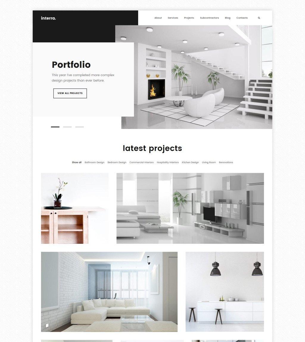 Interior Design Portfolio Templates: The Best Interior Design WordPress Theme