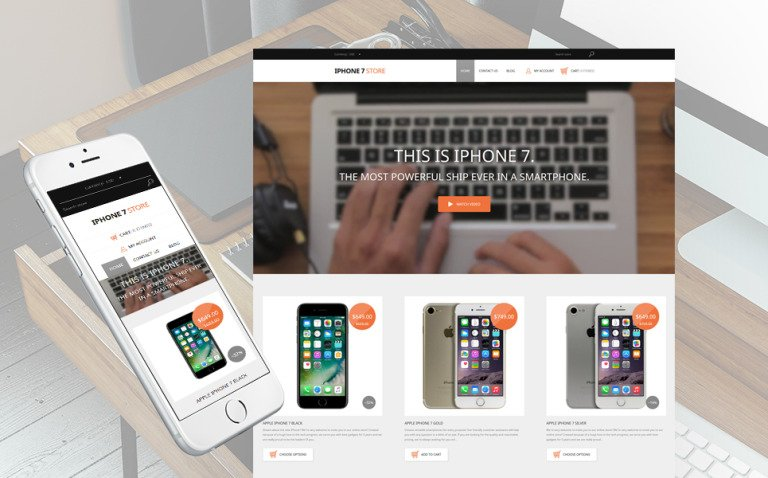 iPhone Mobile Phones Responsive Shopify Theme New Screenshots BIG