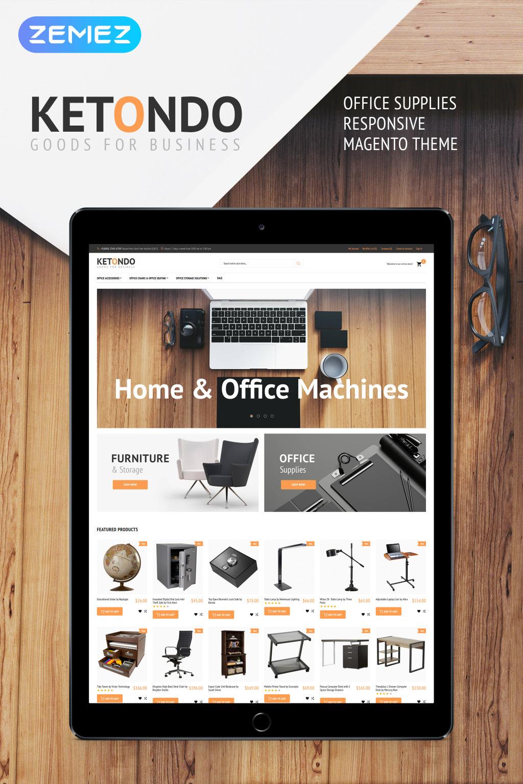 Ketondo - Office Supplies Magento Theme New Screenshots BIG