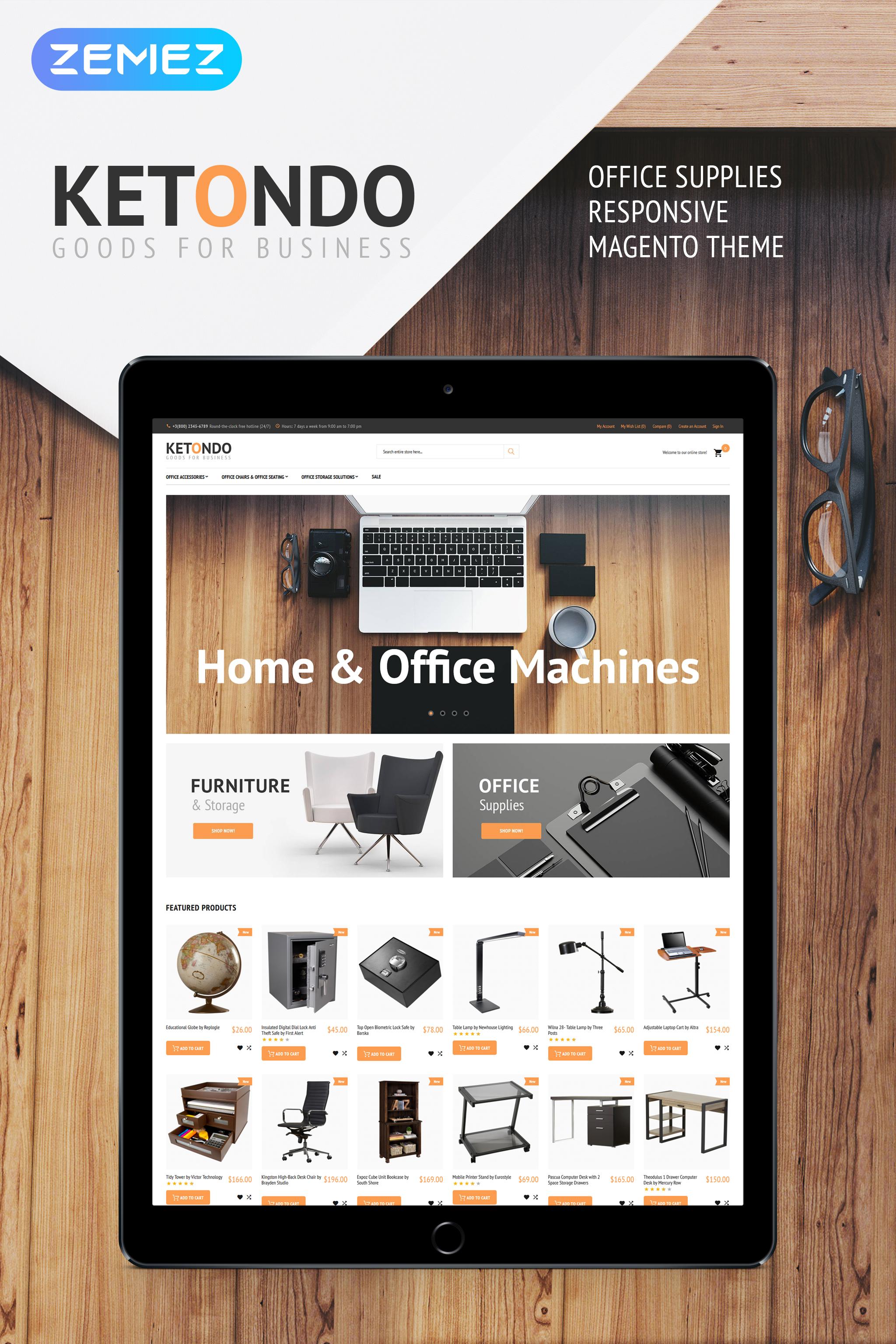 Ketondo - Office Supplies Tema Magento №62094 - screenshot