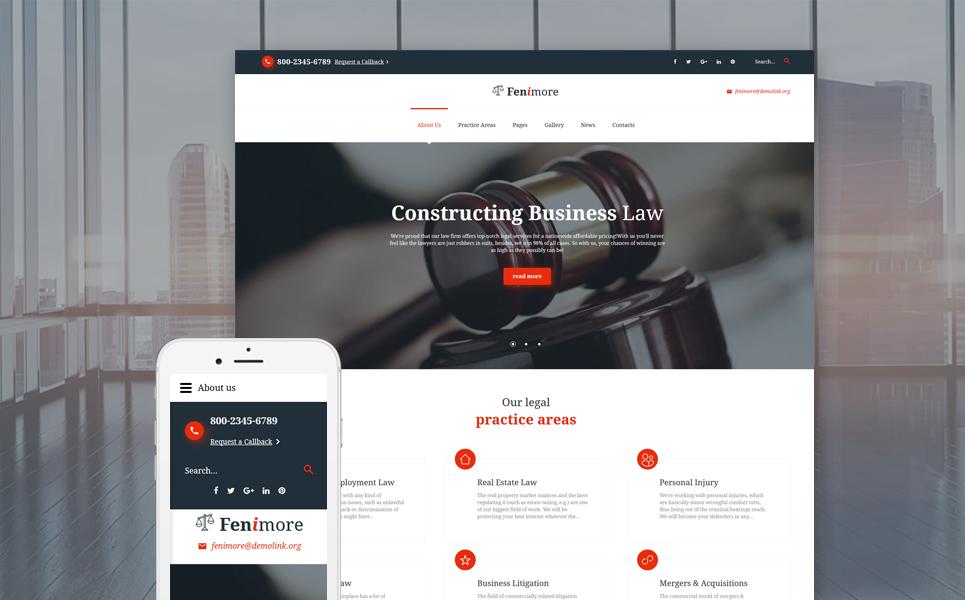 Joomla шаблон для сайта юридической компании