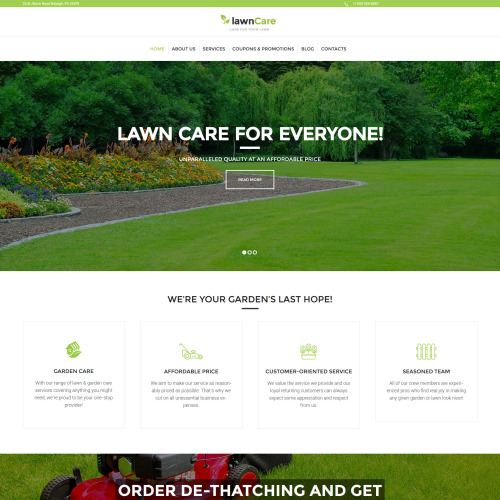 Lawn Care - Responsive WordPress Template