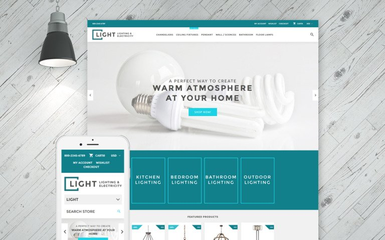 Light - Lighting & Electricity Shopify Theme New Screenshots BIG