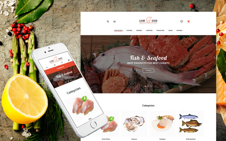 Longud - Seafood Delicacies Magento Theme New Screenshots BIG