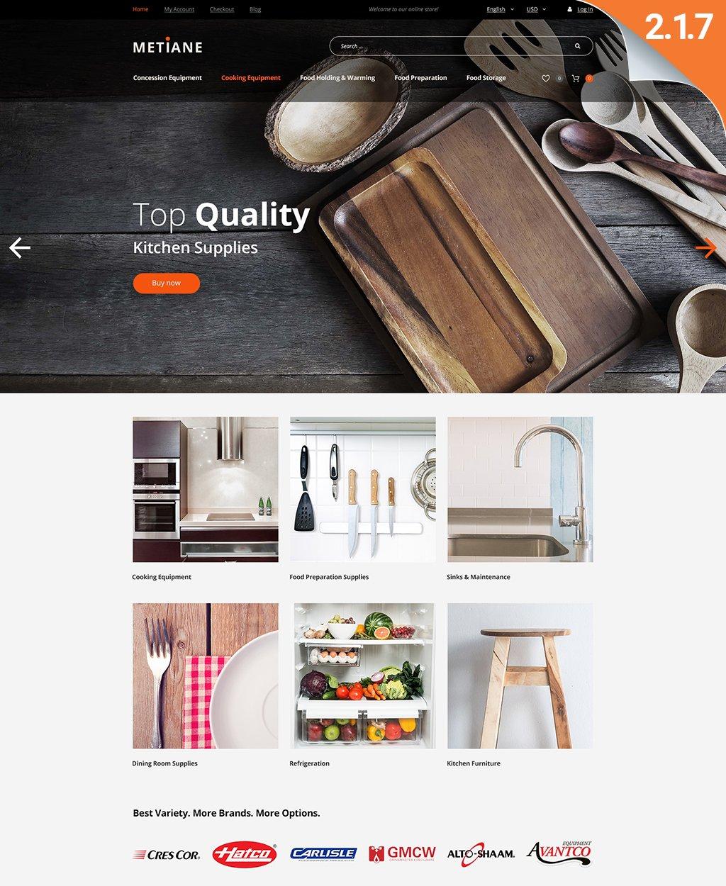 "Magento Theme namens ""Metiane - Kitchen Supply"" #62085 - Screenshot"