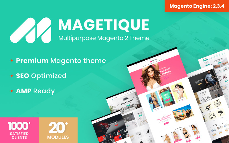 Magetique - AMP-Ready Multipurpose Magento 2 Theme Big Screenshot