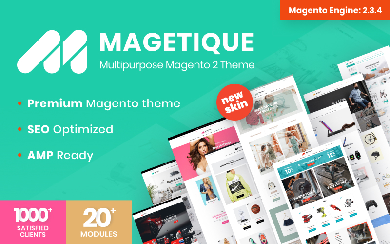 """Magetique - Multifunctioneel"" Responsive Magento Thema №62000"