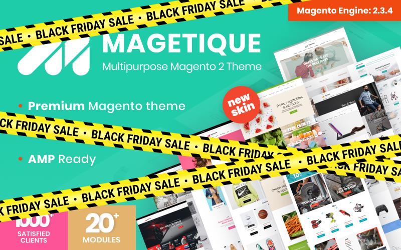 """Magetique - Multifunctioneel"" Responsive Magento Thema №62000"